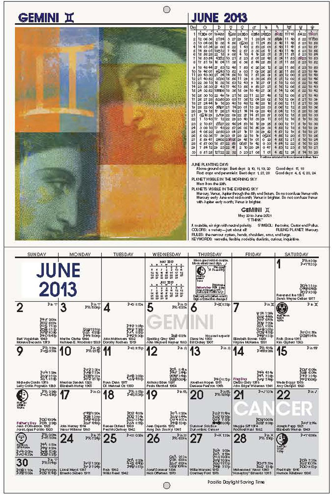 Zodiac Calendar June : Zodiac signs dates and meanings new calendar template site