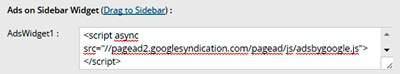 cara memasang iklan di wordpress bagian sidebar widget