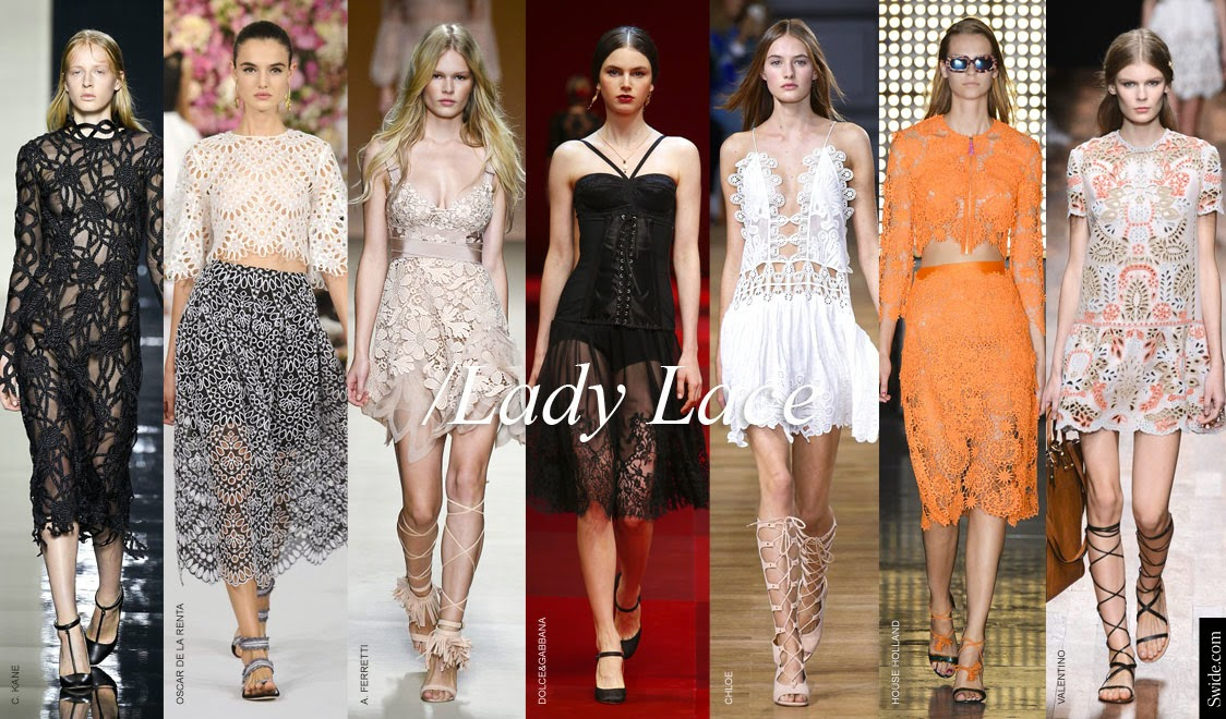 Lace all over the place spring 2015 trend