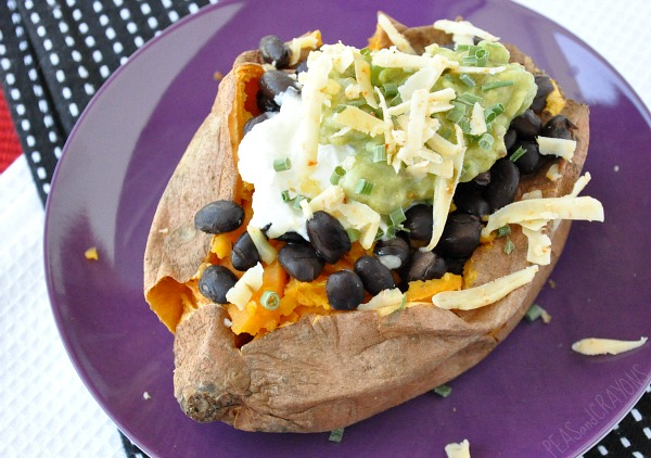 loaded mexican sweet potato black beans guacamole greek yogurt