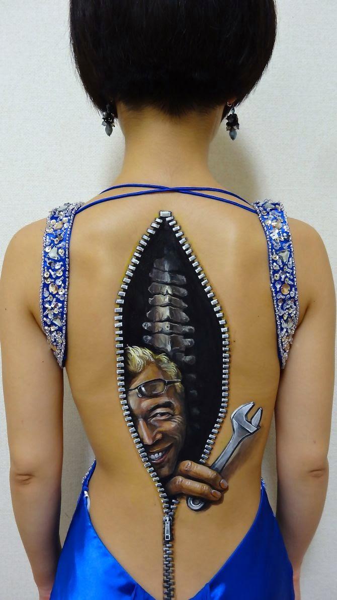 Cute Body paintings Art by Hikaru Cho