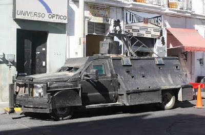 The Mexican Drug Cartel's Hand-​​Made Tanks Seen On www.coolpicturegallery.us