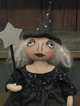 Halloween Folk Art Witch
