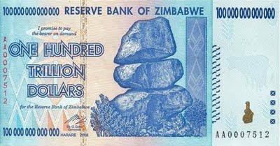 one hundred trillion dollars banknote