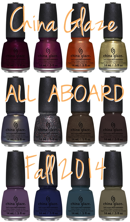 China Glaze All Aboard for Fall 2014 #nailpolish