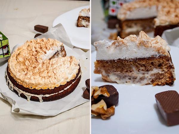 Торт со сгущенкой и меренгой. Пошаговый рецепт.