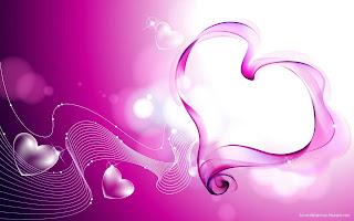 Pink Love Hearts Smoke Love Wallpaper