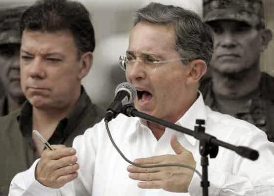 Uribe y Juan Manuel Santos