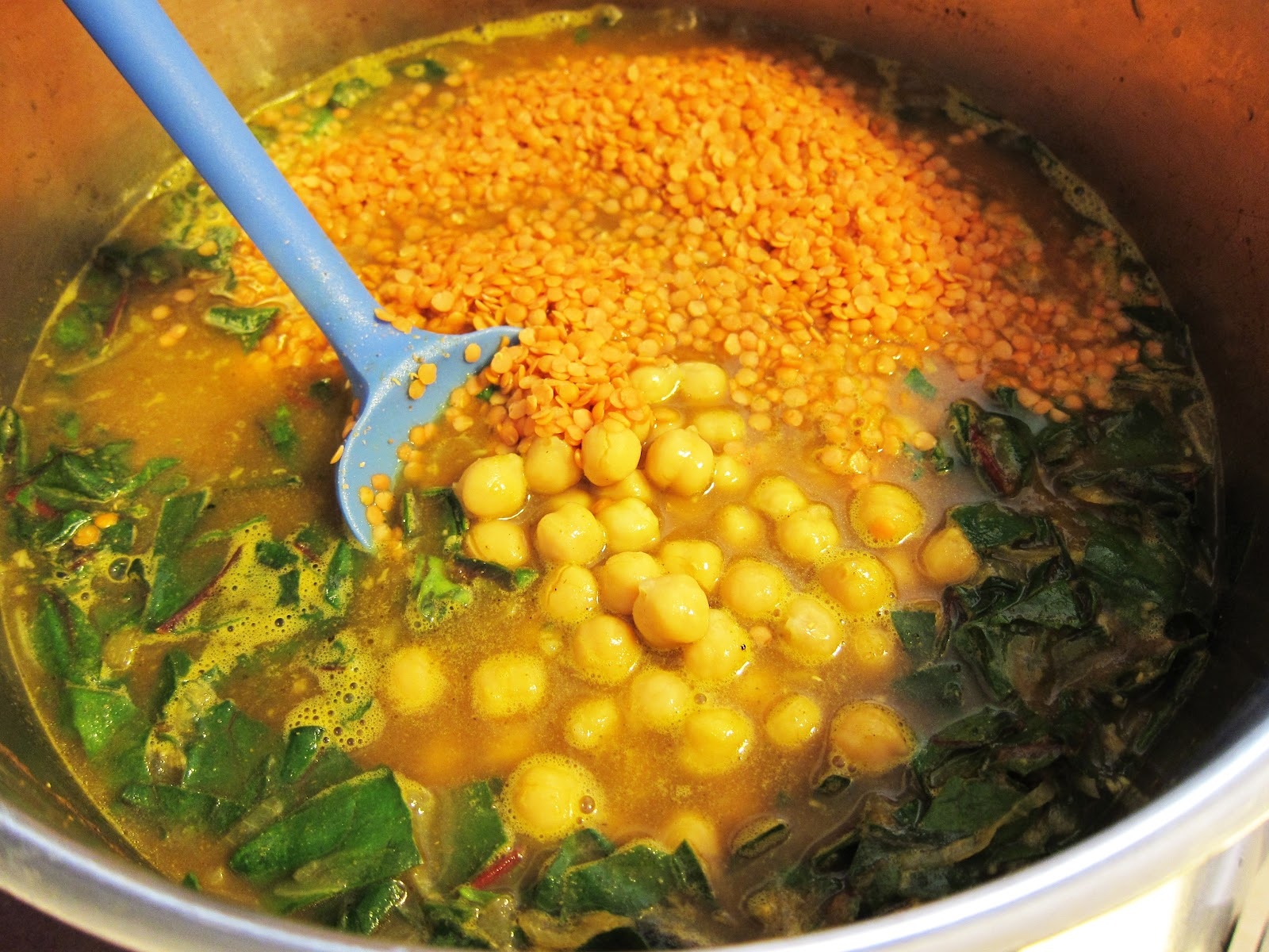 Curried Red Lentil And Swiss Chard Stew With Garbanzo ...