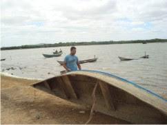 Pescador no Riacho de Pinhões