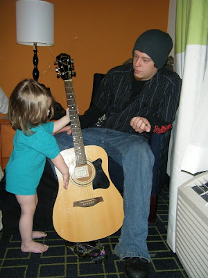 Uncle Brandon brought a guitar