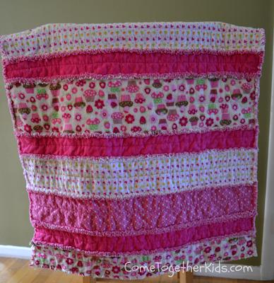 Baby Rag Quilt Tutorial - Creations by Kara