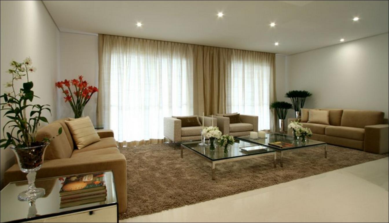 Ver viver e sonhar apartamento mont blanc for Sala de estar neutra