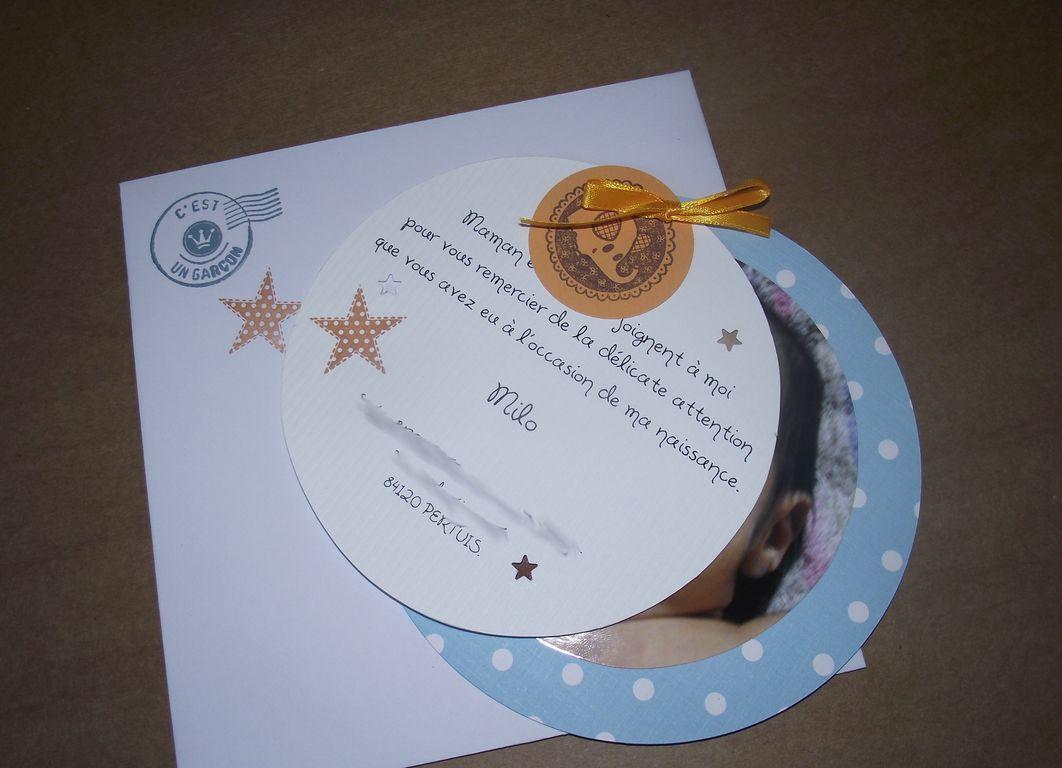 Zeste d 39 amour carte de remerciement - Carte aurore partenaire ...