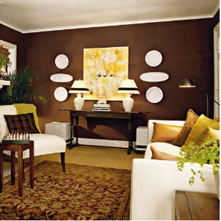 Brown living room lamp decoration