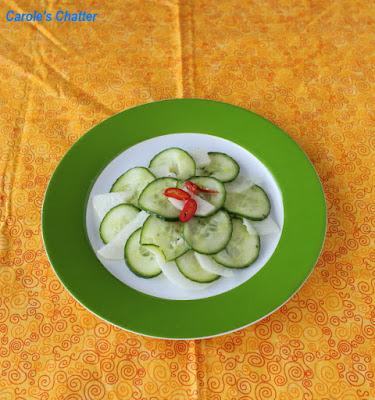 Carole's Chatter: Daikon & Cucumber Salad