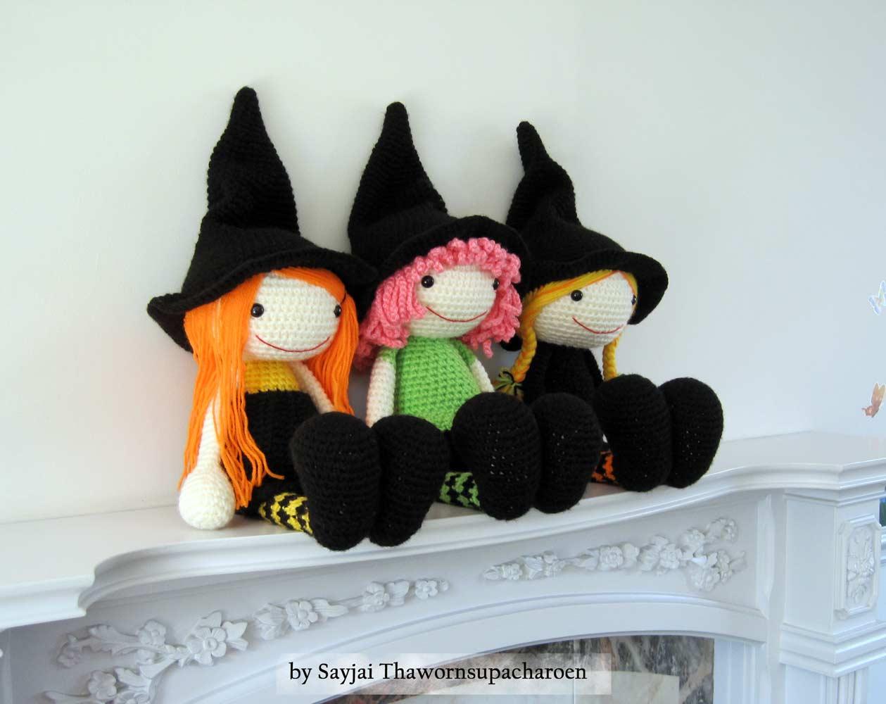 Halloween Amigurumi Crochet Pattern : 3 witches crochet pattern: now available as pdf sayjai amigurumi