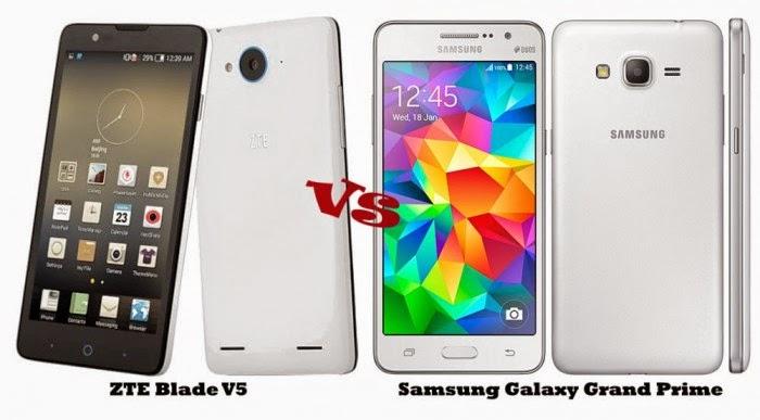 Blade V5 Vs Samsung Galaxy Grand Prime, Duel Smartphone Kamera selfie 5 Megapixel