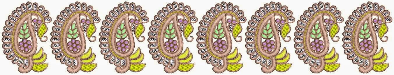 Paisley borduurwerk patroon Kant