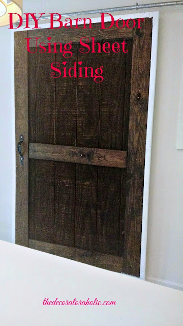 diy barn door using sheet siding, The Decoratoraholic