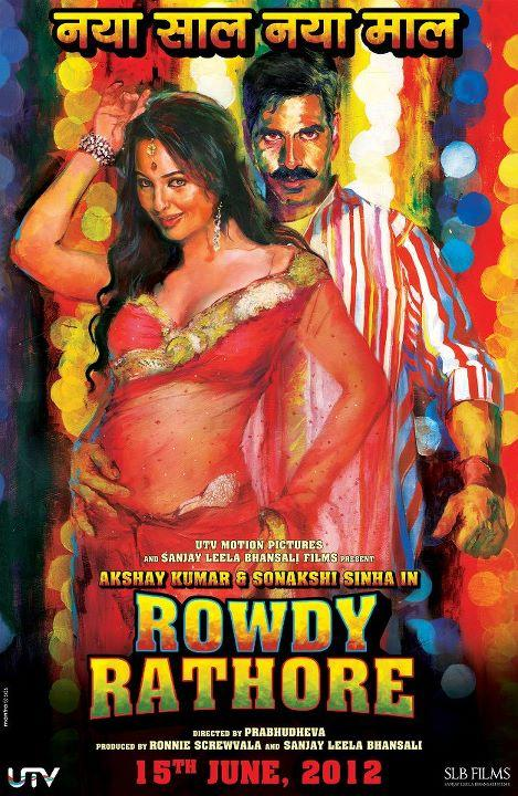 Sonakshi Sinha Rowdy Rathore Poster1 - Sonakshi Sinha Hot Rowdy Rathore Movie Poster