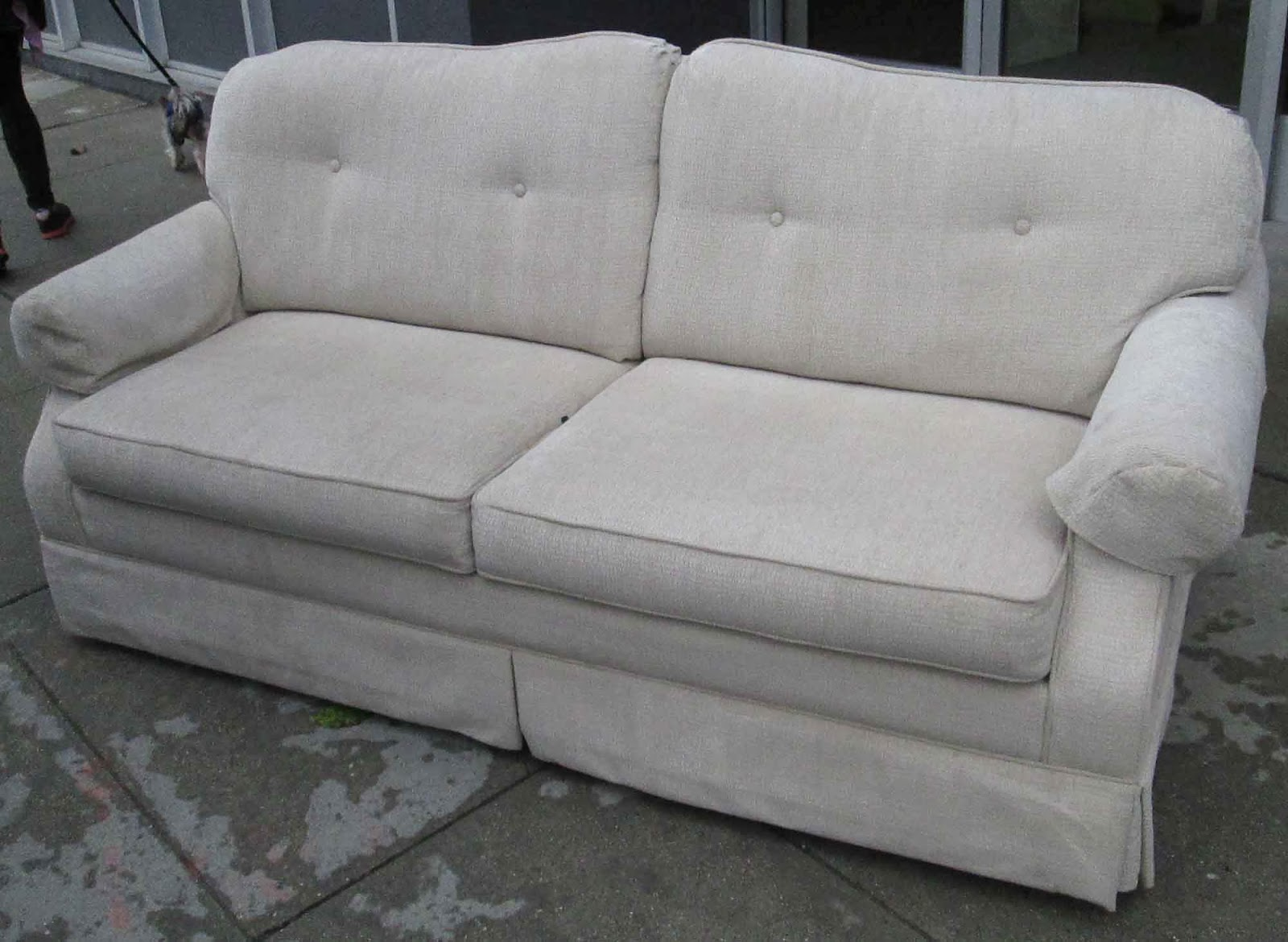 UHURU FURNITURE & COLLECTIBLES: SOLD Small Sofa Sleeper - $150