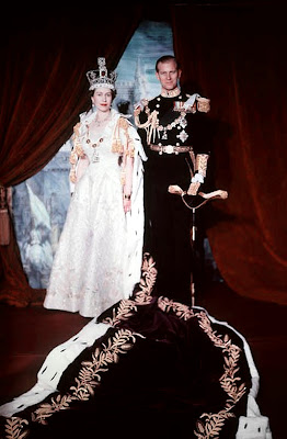 Queen Elizabeth II and Prince Philip, Duke of Edinburgh. Coronation portrait