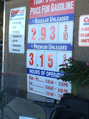 Costco gas for Apr. 4, 2015 at Redwood City, CA