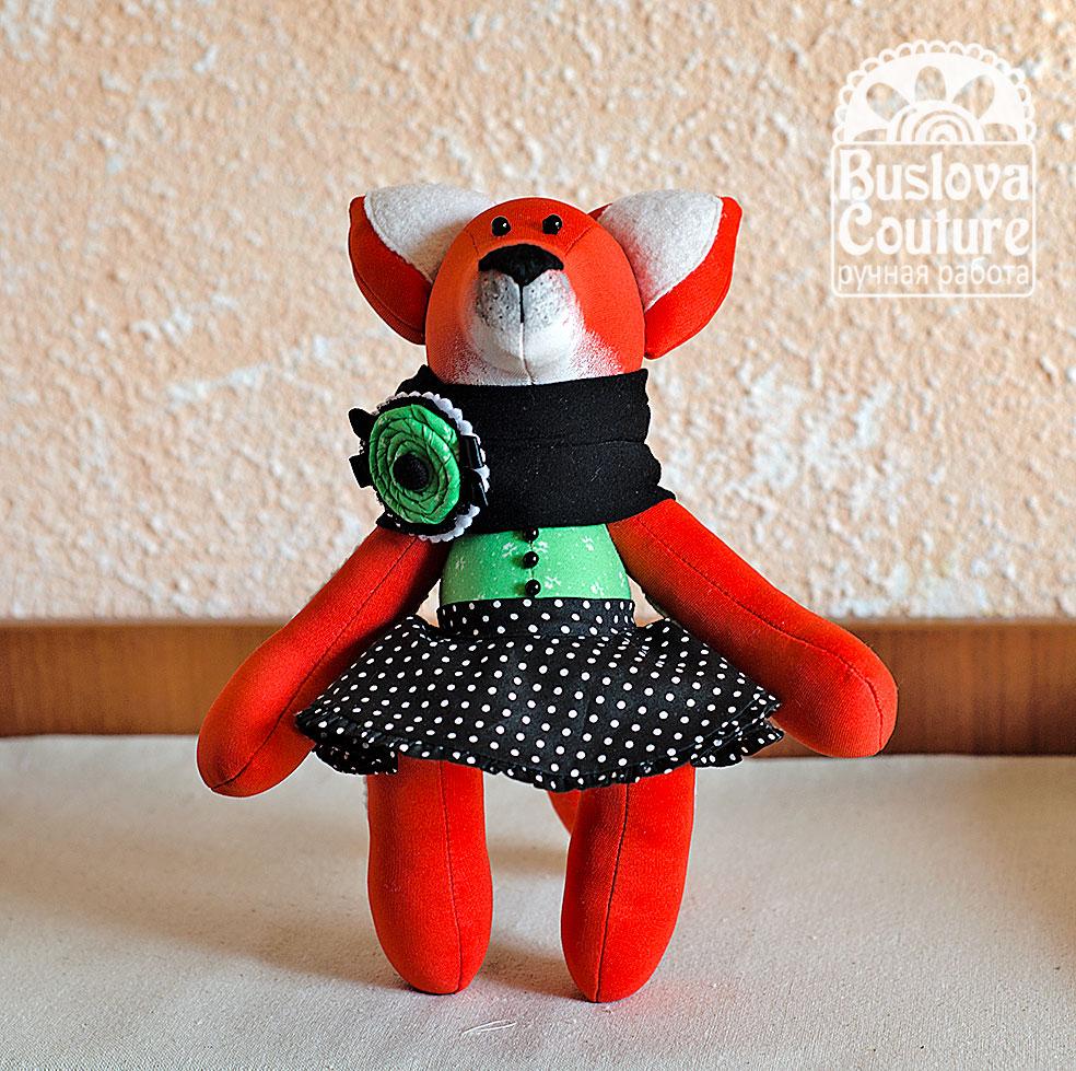 лиса, лис, лисенок, лисичка, игрушка лиса, текстильная игрушка, текстильная игрушка лиса, коллекционная игрушка, подарок