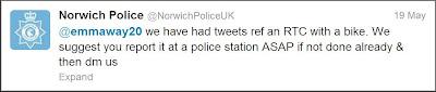 Norwich police tweet