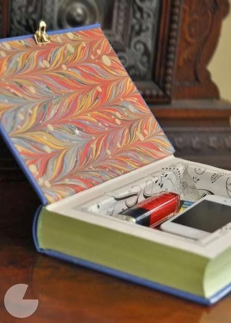 nowe zastosowanie ksiązek schowek z książki DIY