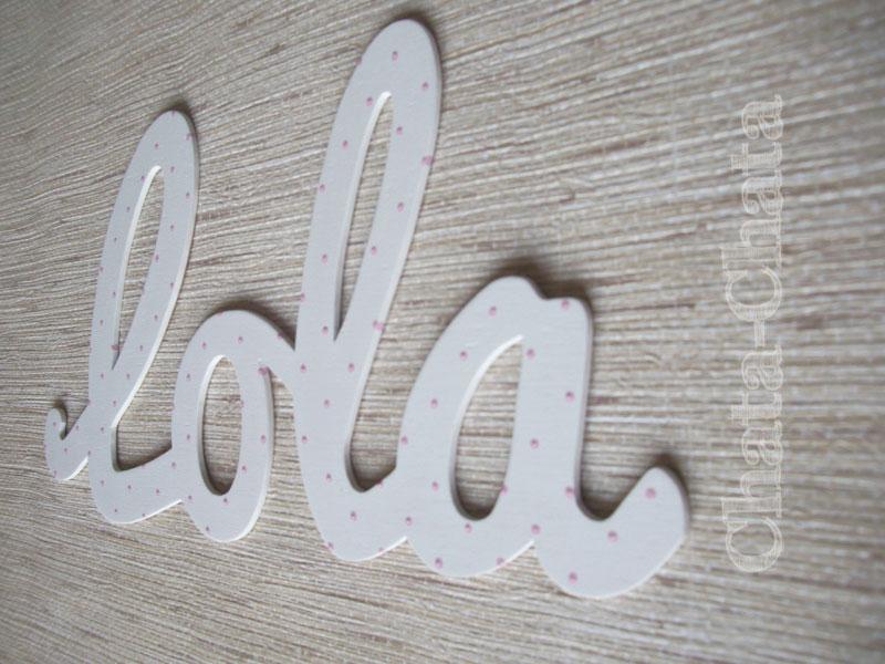 Chata chata decoraci n infantil letras para pegar en la - Letras para pared ...