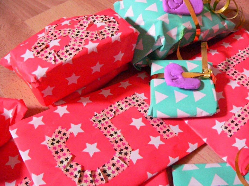Washitape Maskingtape 24 Geschenke Modelliermasse Sterne