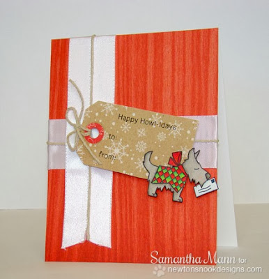 Dog card by Samantha Mann for Newton's Nook Designs Inky Paws Challenge #5