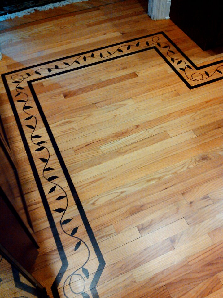 Faux Inlay On Wood Floor Coggeshall Artistry From The Artists - Reseal wood floor