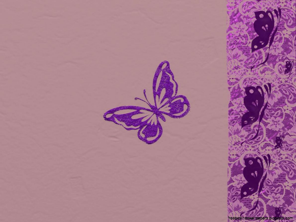 Purple Butterfly Wallpaper Border Free Best Hd Wallpapers
