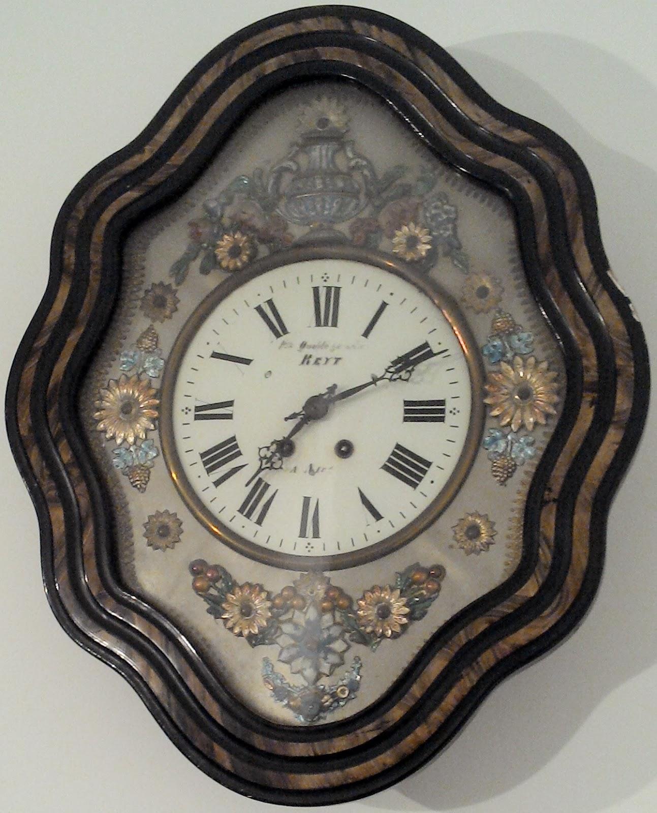 oeil de boeuf pendule ancienne french clock paris cadran. Black Bedroom Furniture Sets. Home Design Ideas