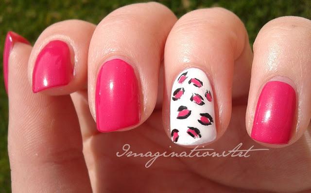 nail art easy facile simple leopard leopardata fashon fashion fascion rosa pink