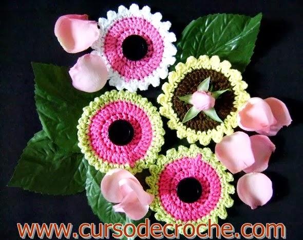 dvd flores 5 volumes na loja curso de croche com frete gratis