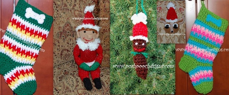 Free Dog Christmas Stocking Crochet Pattern : Posh Pooch Designs Dog Clothes Free Crochet Patterns ...