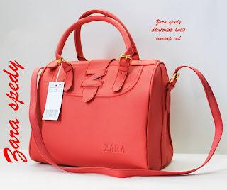 harga Tas Zara Terbaru Tas Zara Spedy Semi Super merah