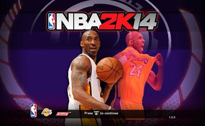 NBA 2K14 Kobe Bryant Title Screen Mod (2) Nba-2k14-lakers-kobe-bryant-cover-athlete-background
