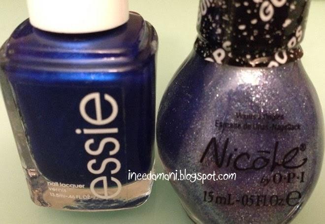 Essie Aruba Blue nicole opi gumdrops blue berry sweet on you
