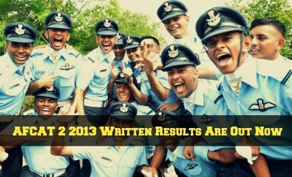AFCAT 2 2013 Written Results