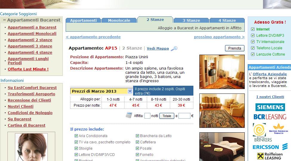 Appartamenti Bucarest Affitto