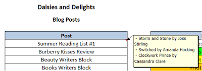 Editorial Calendar Spreadsheet Microsoft Excel