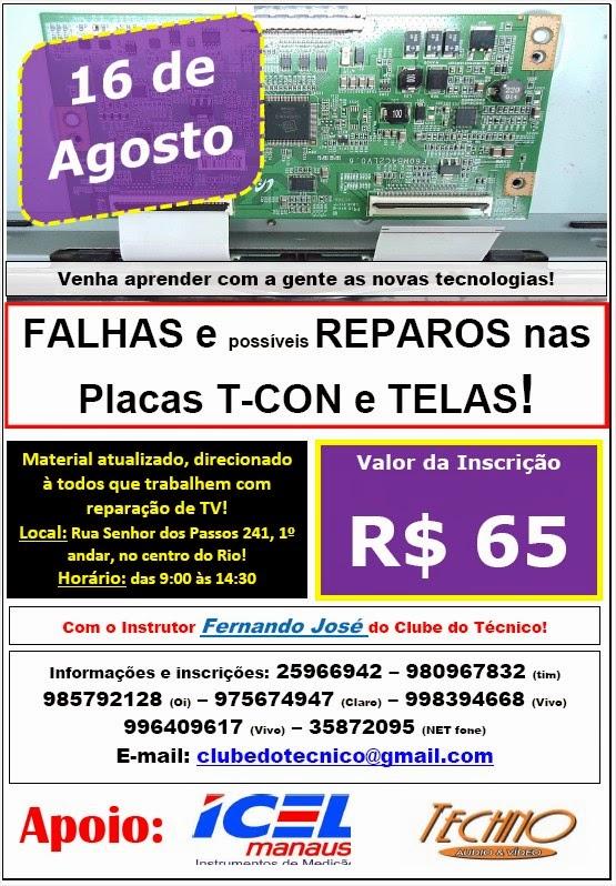 575c1469238 Jornal Ícone - Treinamento  DICAS e MACETES para Reparação das Placas T-CON  e Análise de Falhas de Telas LCD!