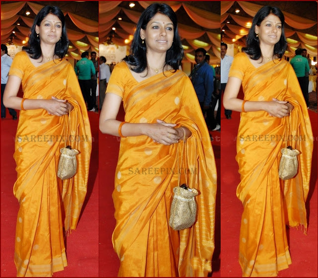 Nandita_Das_photos_in_mustard_yellow_silk_saree