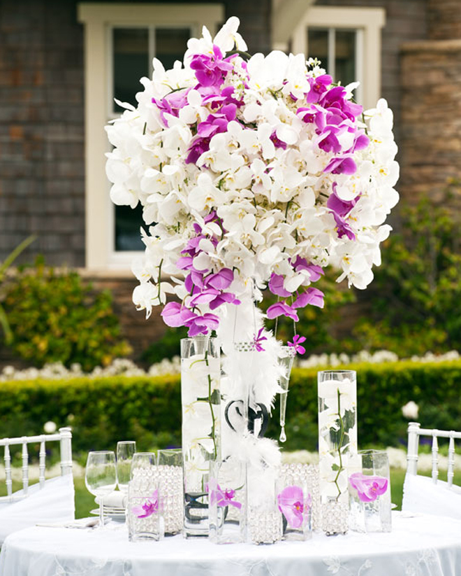 25 stunning wedding centerpieces part 10 belle the for Center arrangements for weddings