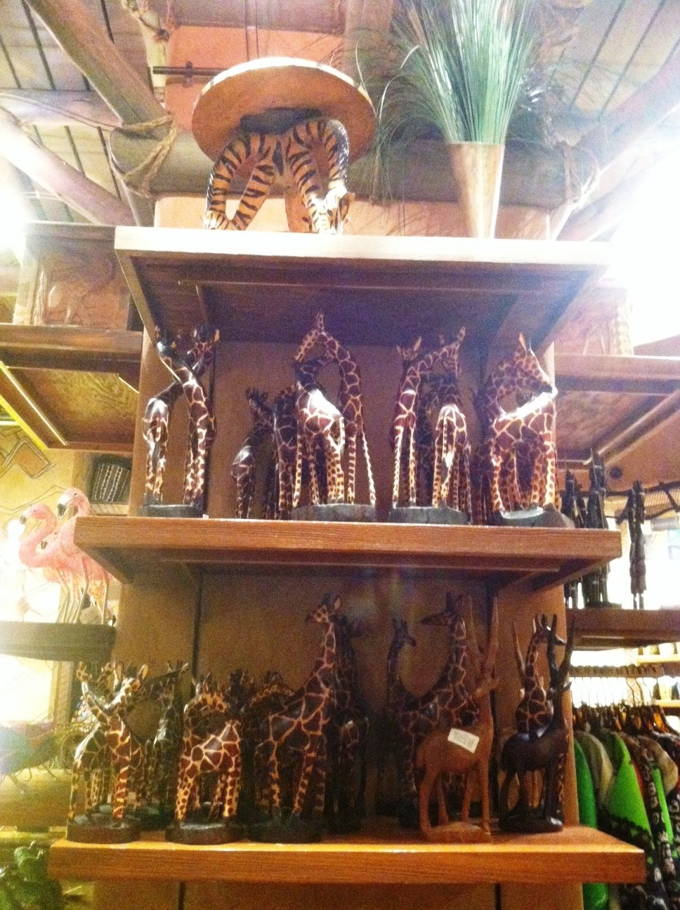 Giraffe figurines at Animal Kingdom Lodge
